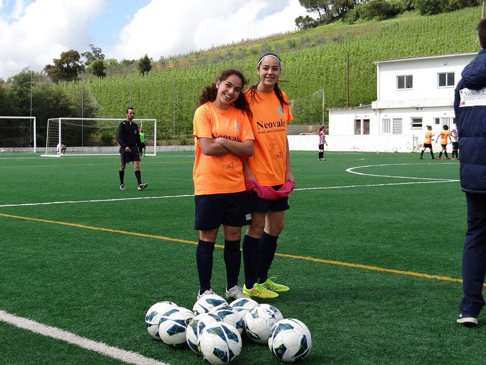 Carolina Ferreira e Cláudia Tecedeiro(na foto). Carolina Ferreira marcou os 2 golos com que o A-dos-Francos derrotou o Ouriense esta manhã
