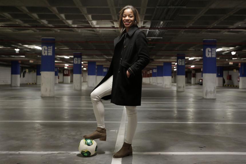 Jéssica Silva é jogadora do Sporting de Braga, 2º classificado da Liga Allianz de futebol feminino Foto: JOSÉ CARIA