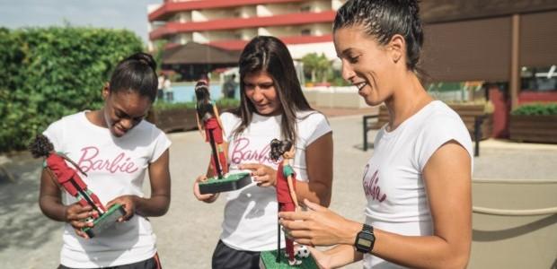 Diana Silva, Ana Borges e Cláudia Neto receberam Barbies criadas à sua imagem. DR